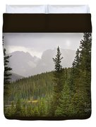 Indian Peaks Colorado Rocky Mountain Rainy View Duvet Cover
