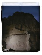 Indian Pictographs Are Illuminated Duvet Cover