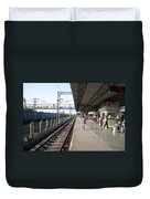 Indian Railway Station Duvet Cover