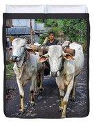 Indonesian Bovine Cart Duvet Cover