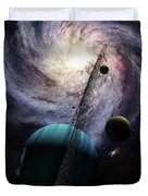 Indra, A Fast Spinning Gas Giant Duvet Cover