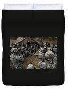 Infantrymen Receive Their Safety Brief Duvet Cover