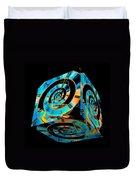 Infinity Time Cube On Black Duvet Cover