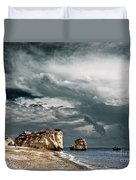 Infrared Aphrodite Rock Duvet Cover