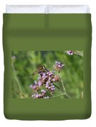 Insect And Flower Duvet Cover