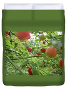 Inside The Red Huckleberry Duvet Cover by Kym Backland