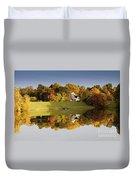 Inspiration Lake In Autumn Duvet Cover