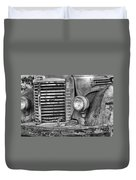 International Truck Black And White Duvet Cover