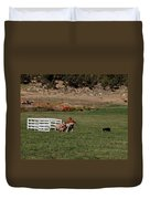 Into The Paddock Duvet Cover