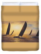 Into The Sunset - Panoramic  Duvet Cover by Diane Romanello
