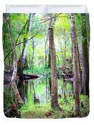 Into The Swamp Duvet Cover