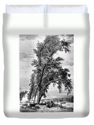 Iowa: Council Bluffs, 1855 Duvet Cover