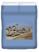 Iraqi Army Soldiers Aboard M1114 Humvee Duvet Cover