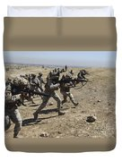 Iraqi Army Soldiers Move To Positions Duvet Cover
