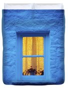 Ireland Cottage Window At Night Duvet Cover