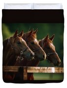 Ireland Thoroughbred Horses Duvet Cover