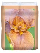 Iris In Gold  Duvet Cover