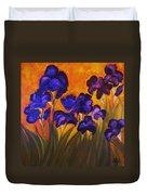 Irises In Motion Duvet Cover