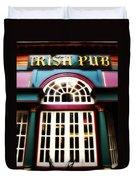 Irish Pub Duvet Cover