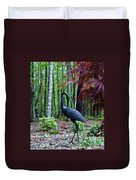 Iron Crane Poses 1 Duvet Cover