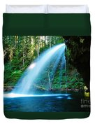 Iron Creek Falls From The Side  Duvet Cover