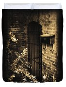 Iron Door Sepia Duvet Cover