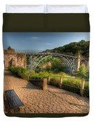 Ironbridge England Duvet Cover by Adrian Evans