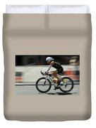 Ironman 2012 Flying By Duvet Cover