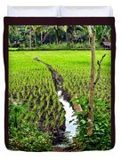 Irrigated Rice Field Duvet Cover