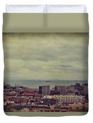 Is Anybody Out There Duvet Cover by Laurie Search