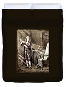 Isaac Newton Ray Of Light Duvet Cover