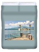 Island San Giulio On Lake Orta Duvet Cover
