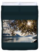 Islands On A Lake In Autumn Duvet Cover