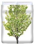 Isolated Flowering Pear Tree Duvet Cover