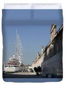 Istanbul Cruise Ship Terminal Duvet Cover