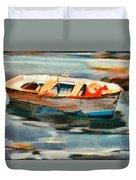 Istrian Fishing Boat Duvet Cover