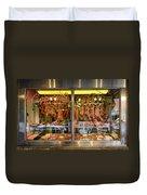 Italian Market Butcher Shop Duvet Cover by John Greim