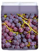 Italian Red Grape Bunch Duvet Cover