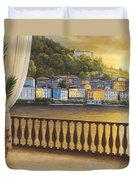 Italian View Duvet Cover by Diane Romanello