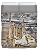 Italian Village-sydney Harbor Bridge Duvet Cover
