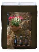 Italian Wine And Flowers Duvet Cover