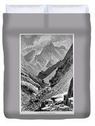 Italy: Carrara Mountains Duvet Cover