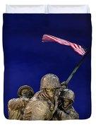Iwo Jima Memorial Front View Duvet Cover