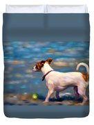 Jack At The Beach Duvet Cover