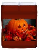 Jack-o-lantern Halloween Display Duvet Cover