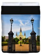 Jackson Square In New Orleans Duvet Cover