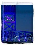 Jacksonville Skyline Duvet Cover by Debra and Dave Vanderlaan