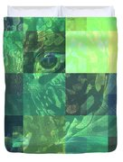 Jaguar Graph Geo Green Duvet Cover