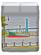 James M Schoonmaker And The Hi-level Bridge Duvet Cover