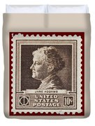 Jane Addams Postage Stamp Duvet Cover